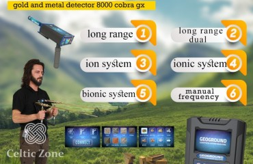 Cobra GX 8000  Powerful Multi-Systems Metal Detector