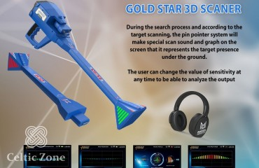 The newest metal detector 2021 Gold Star 3D Scanner (3)