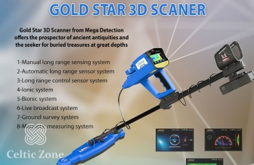 The newest metal detector 2021 Gold Star 3D Scanner (2)
